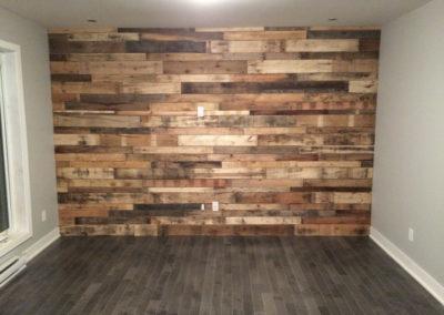 Mur de bois de grange mixte
